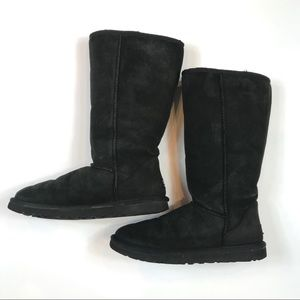 UGG Tall Classic Black Boots Size 9